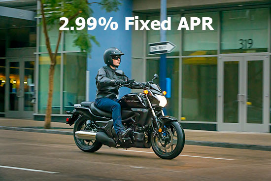 Honda 2.99% on Select Cruisers & Touring Models!