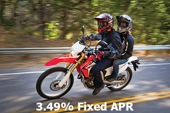 3.49% on Select On-Road Models!