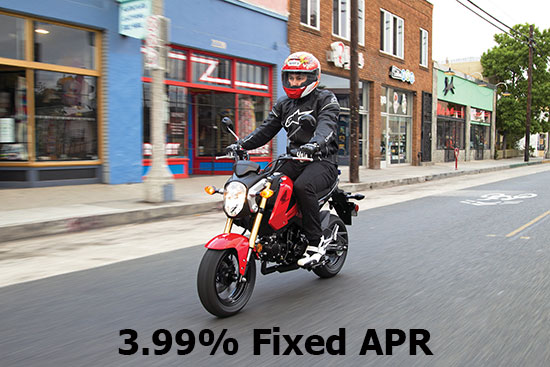 3.99% on On-Road Sport & Standard Models!
