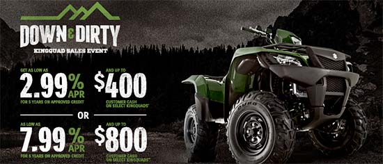 Down & Dirty KingQuad Sales Event!