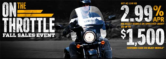 On The Throttle Fall Sales Event!
