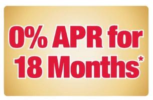 0% APR for 18 Months!