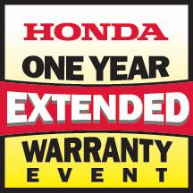 Honda Power Equipment Extended Warranty Event!