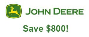 John Deere Save $800 on the EZtrak™ Z435 Zero-Turn Mower!