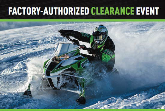 Arctic Cat Factory Authorized Clearance!