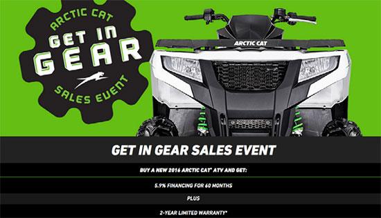 Arctic Cat Get In Gear Sales Event!