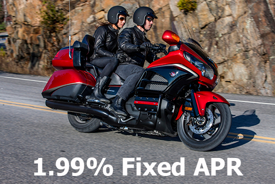 Honda 1.99% on Gold Wing, Gold Wing F6B & Valkyrie!