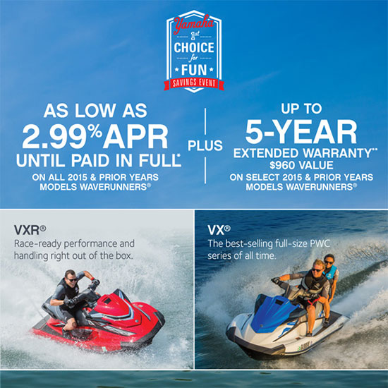 As Low As 2.99% APR PLUS 5-Year Extended Warranty!