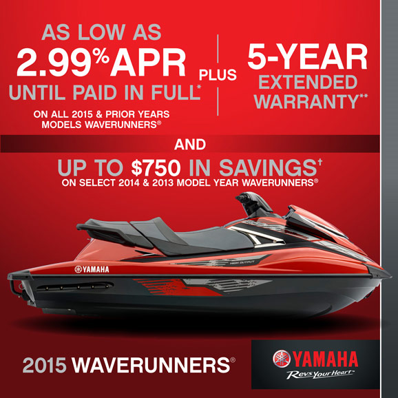 As Low As 2.99% APR PLUS 5-Year Extended Warranty AND Up to $750 in Savings!