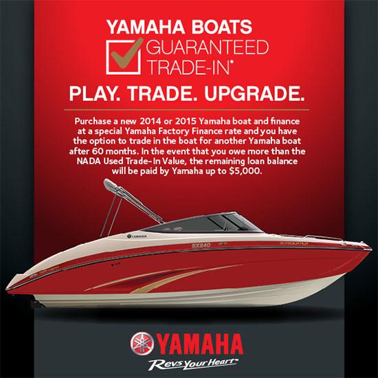 Yamaha Motor Corp., USA Guaranteed Trade-In!