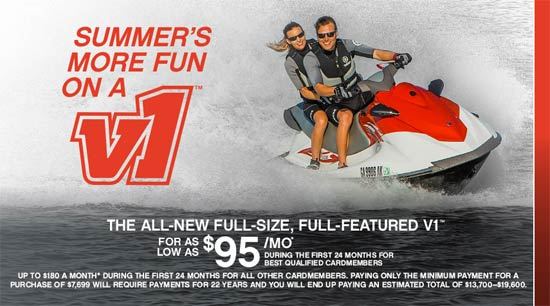 Yamaha Motor Corp., USA V1™ As Low As $95 per Month*
