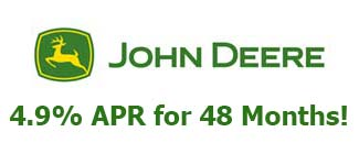 John Deere 4.9% APR for 48 Months on 2015 EZtrak™ & 2016 Residential ZTrak™ Zero-Turn Mowers!!