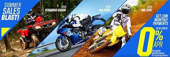 Suzuki Motor of America Inc. Summer Sales Blast!