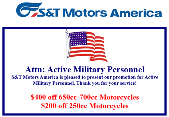 Hyosung Up To $400 Off Select Models For Active Military!