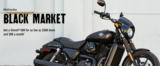 Low Rate With Low Down Payment On Harley-Davidson Street™ 500 and 750!