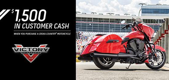 Victory $1,500 Customer Cash!