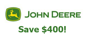 John Deere Save $400 on Selected New ZTrak™ Series mowers!