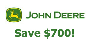John Deere Save $700 on all X700 Signature Series Tractors!