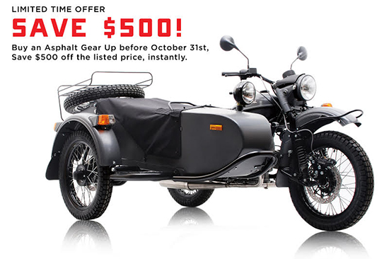 Ural Russian Motorcycles Save $500!