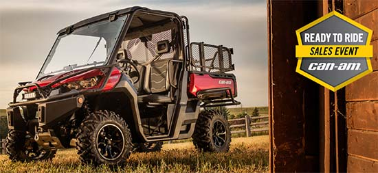 Can-Am Ready To Ride Sales Event - Defender!
