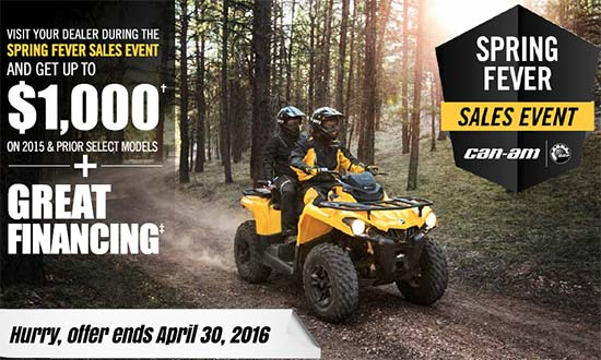 Can-Am Spring Fever Sales Event!