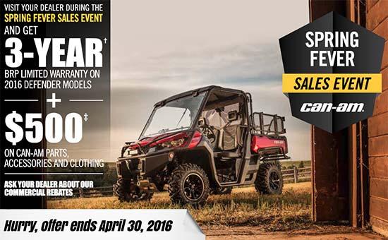 Can-Am Spring Fever Sales Event - Defender!