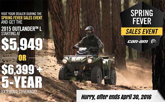 Can-Am Spring Fever Sales Event - Outlander L!