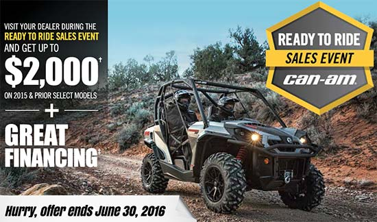 Can-Am Ready To Ride Sales Event!