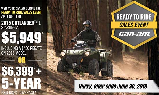 Can-Am Ready To Ride Sales Event - Outlander L!
