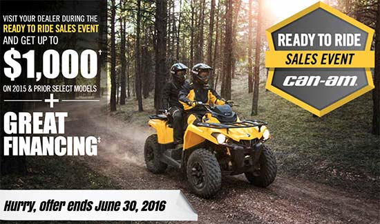 Can-Am Ready To Ride Sales Event - ATV!
