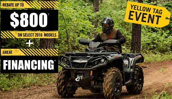 Can-Am Yellow Tag Event - ATV!