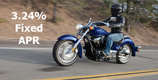 Honda 3.24% on Select Cruisers & Touring Models!