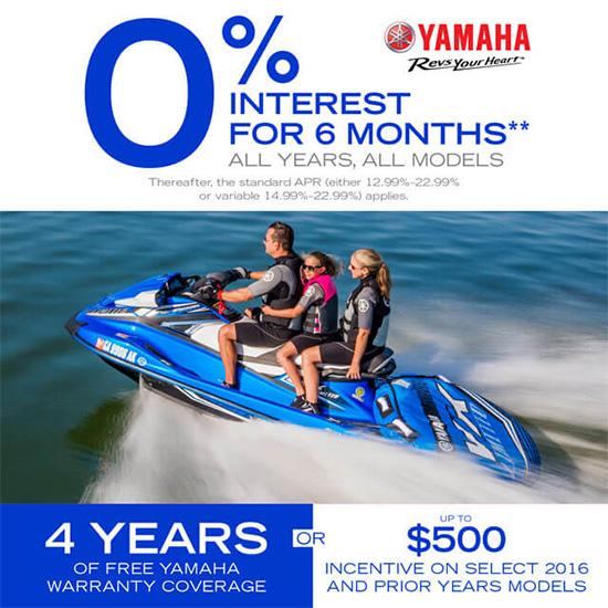 Yamaha Motor Corp., USA 0% Interest For 6 Months!