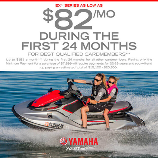 Yamaha Motor Corp., USA EX™ Series As Low As $82 per Month!
