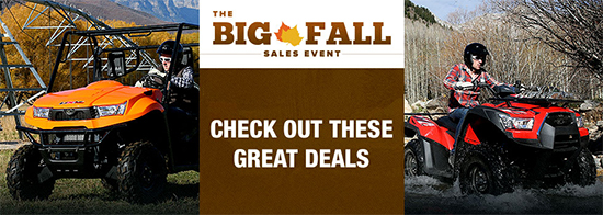 Kymco Big Fall Sales Event - Off Road Items!