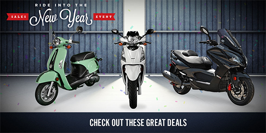Kymco Ride Into the New Year Sales Event!