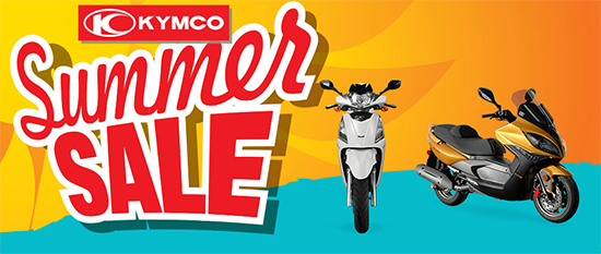 Kymco Summer Sale - On Road Items!