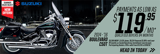 Suzuki Motor of America Inc. Boulevard C50T Summer Sales Blast
