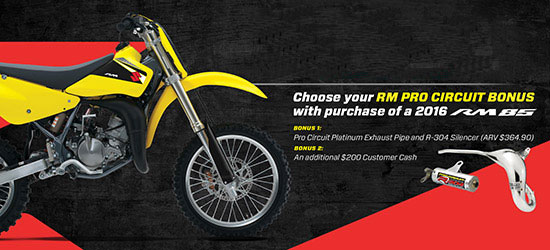 Suzuki Motor of America Inc. RM85 Bonus Program
