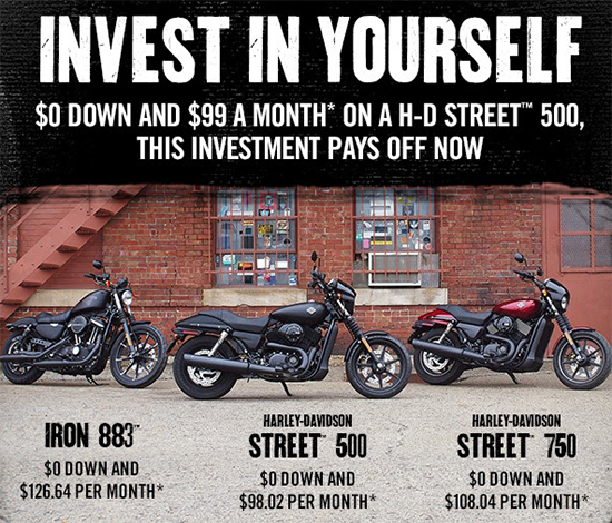 Harley-Davidson Invest In Yourself!
