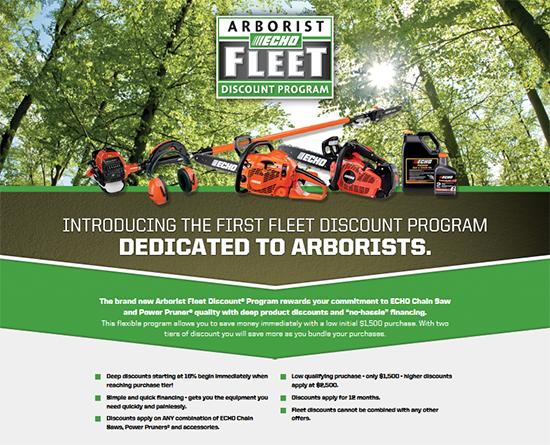 Echo Arborist Fleet Discount® Program!