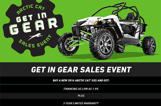 Arctic Cat Get In Gear Sales Event!