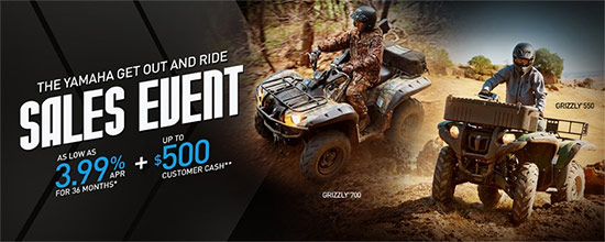 Yamaha Motor Corp., USA Get Out and Ride Sales Event - Utility!