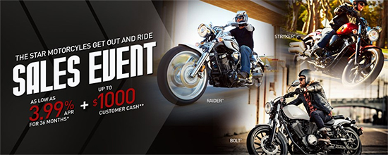 Get Out and Ride Sales Event - Star!