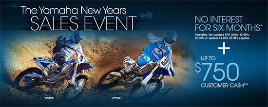 The Yamaha New Years Sales Event - Off-Road!