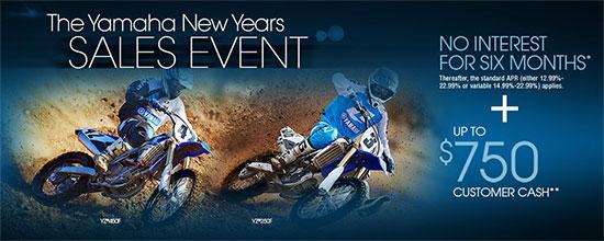 Yamaha Motor Corp., USA The Yamaha New Years Sales Event - Off-Road!