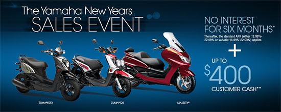 Yamaha Motor Corp., USA The Yamaha New Year Sales Event!