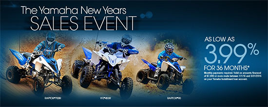 Yamaha Motor Corp., USA The Yamaha New Years Sales Event - Sport!