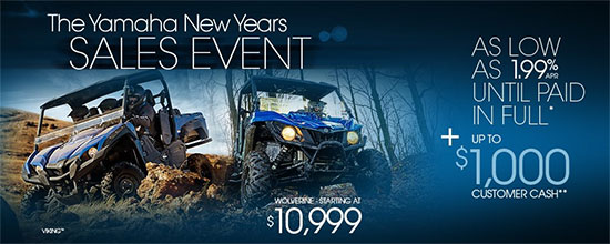 Yamaha Motor Corp., USA The Yamaha New Years Sales Event!