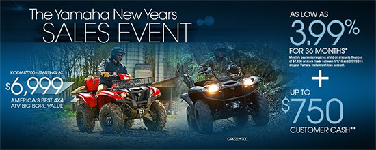 Yamaha Motor Corp., USA The Yamaha New Years Sales Event - Utility!